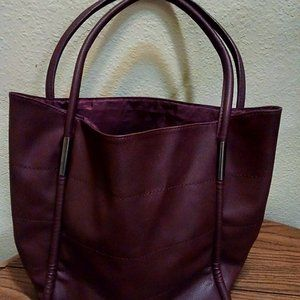 Large Neimen Marcus faux leather tote bag